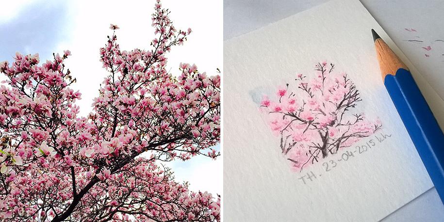 daily-instagram-inspired-art-drawings-tiny-spring-kasia-haldas-3