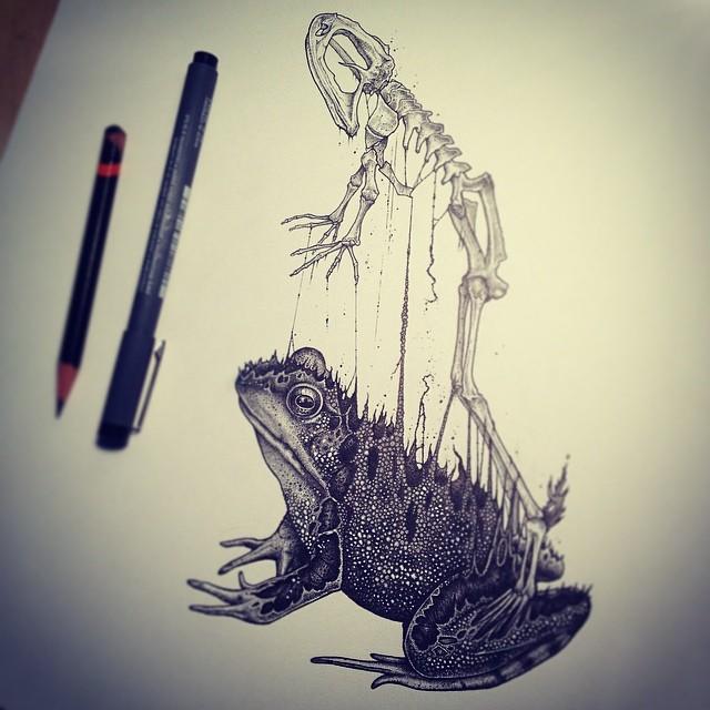 eerie-gruesome-gothic-black-white-animal-skull-art-paul-jackson-4