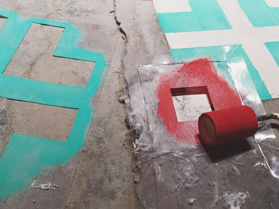 graffiti-spray-paint-tile-pattern-floor-installations-javier-de-riba-4