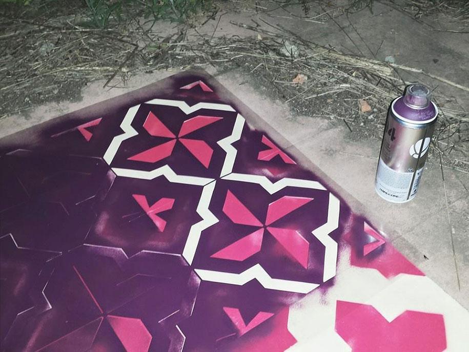 graffiti-spray-paint-tile-pattern-floor-installations-javier-de-riba-7