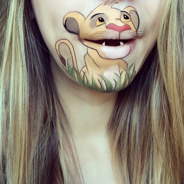 make-up-face-paint-cartoon-character-lips-laura-jenkinson-23