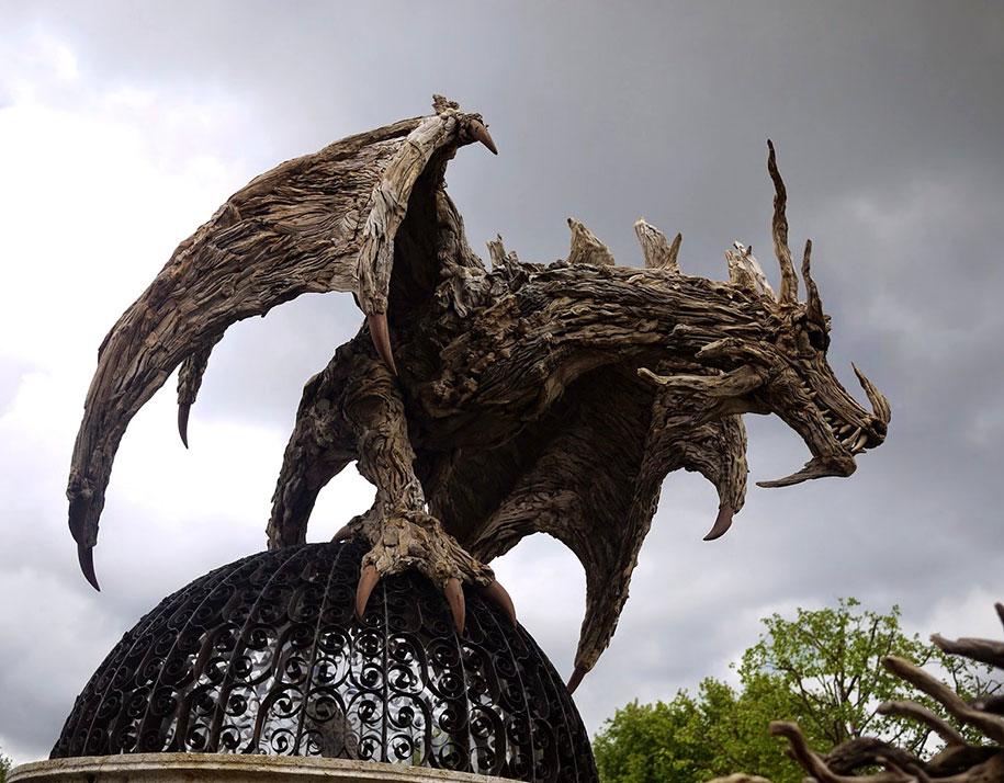 sculptures-driftwood-dragon-wyvern-james-doran-webb-10