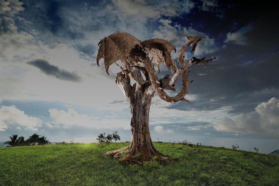 sculptures-driftwood-dragon-wyvern-james-doran-webb-5