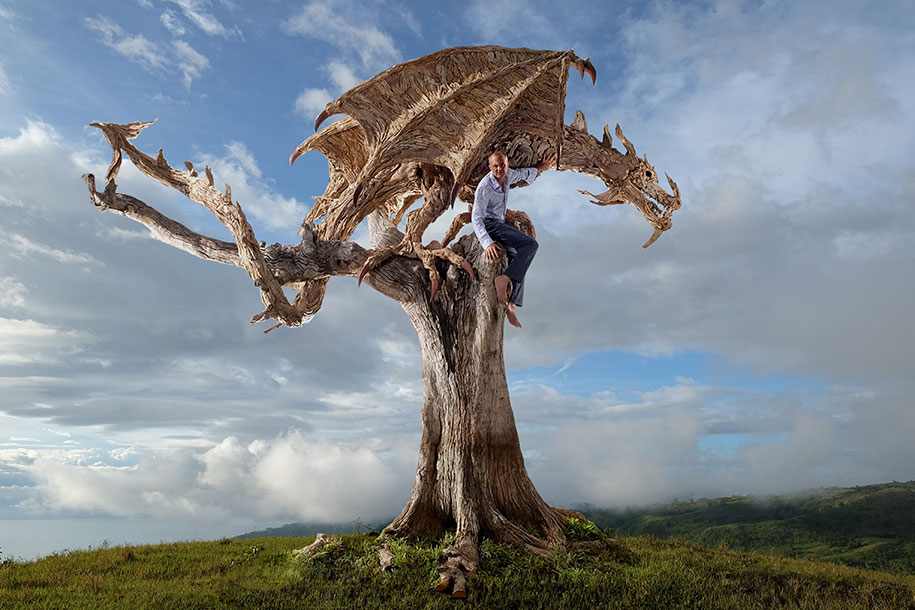 sculptures-driftwood-dragon-wyvern-james-doran-webb-7