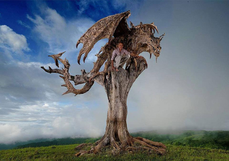 sculptures-driftwood-dragon-wyvern-james-doran-webb-9