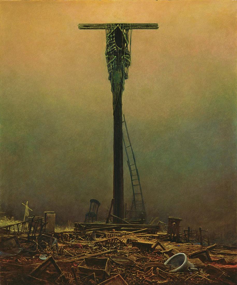 gothic-dystopian-postapocalyptic-surreal-paintings-zdzisław-beksinski-6