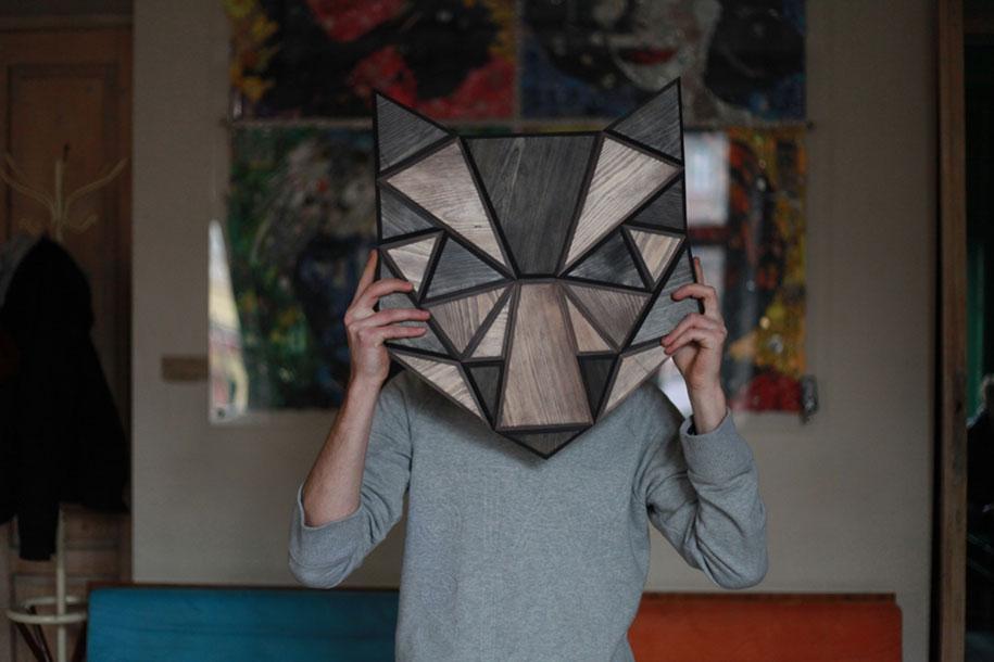 geometric-polygon-wooden-animal-heads-tomasz-ciurka-poland-9