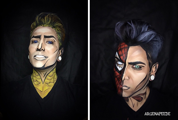 make-up-body-paint-comic-book-superhero-cosplay-argenis-pinal-2