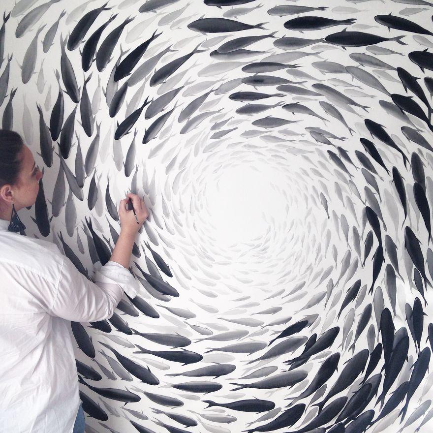 nature-inspired-fish-paintings-porcelain-niharika-hukku-10