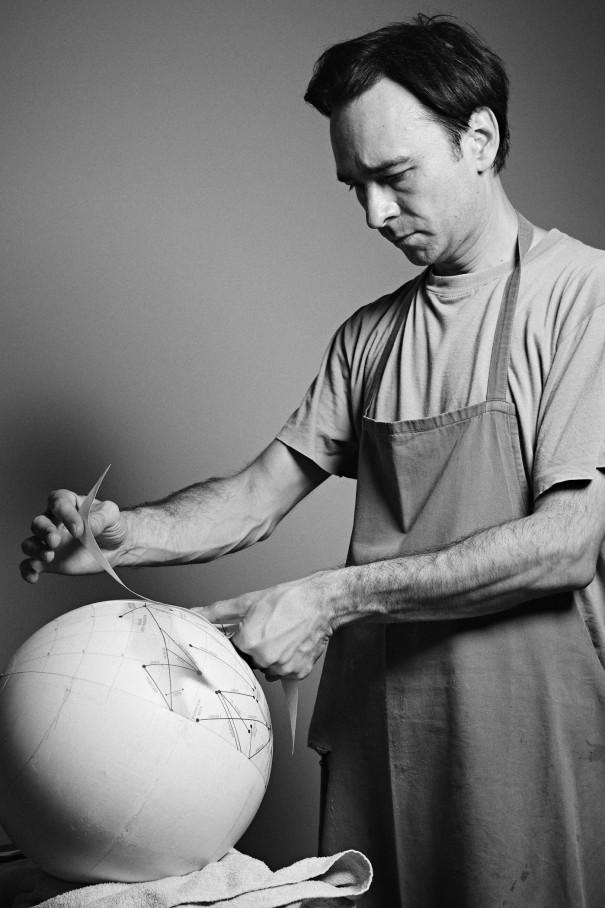 """Making of"" the mars globe"