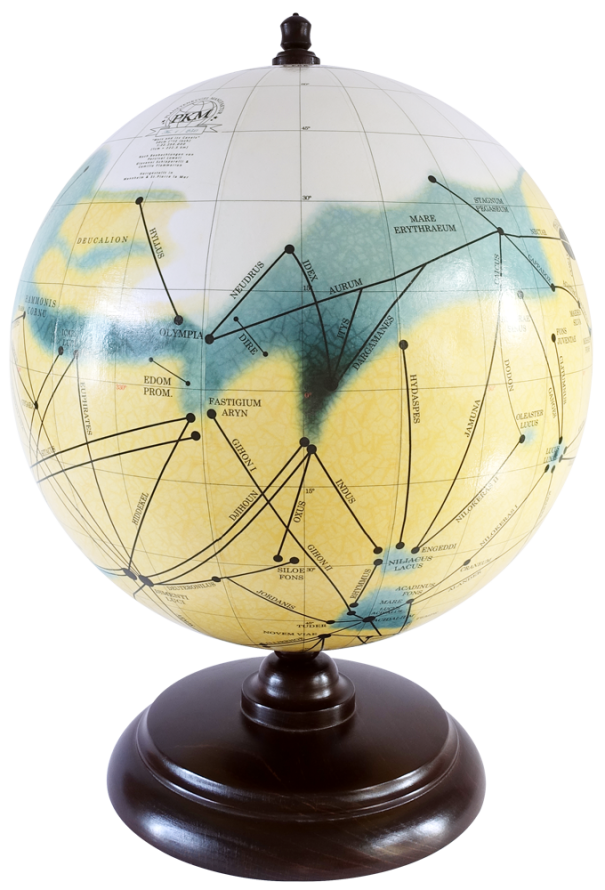 12-Inch Mars Globe By PKM