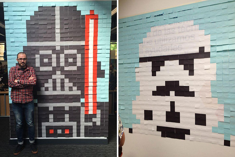 star-wars-post-it-sticky-note-mural-office-viking-1