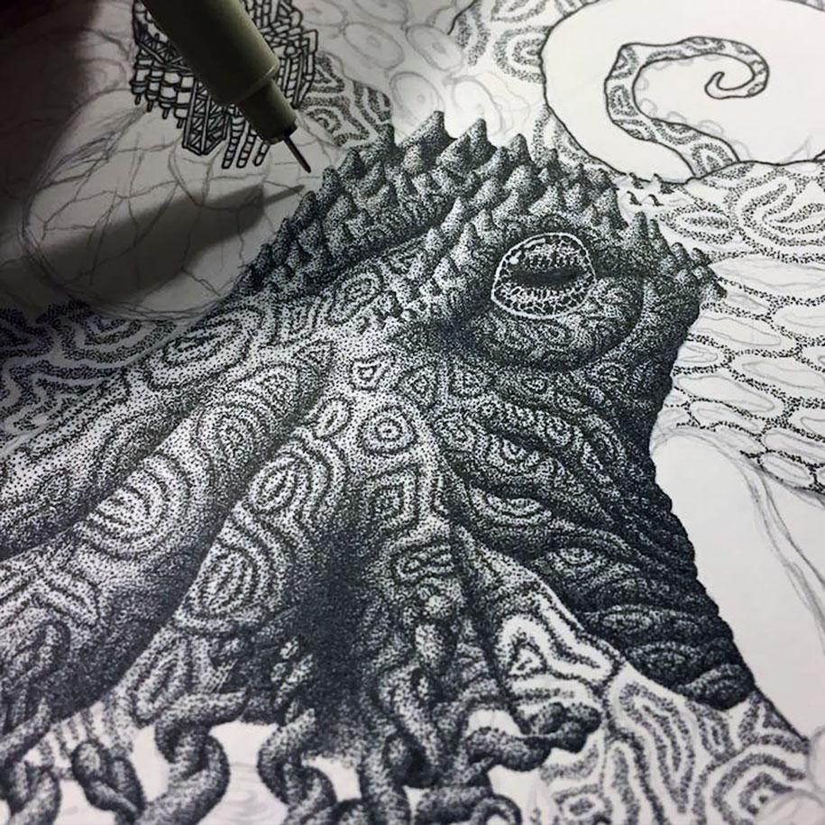 surreal-pointillism-stippling-dot-art-kyle-leonard-2