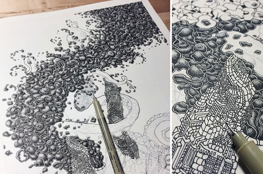surreal-pointillism-stippling-dot-art-kyle-leonard-5