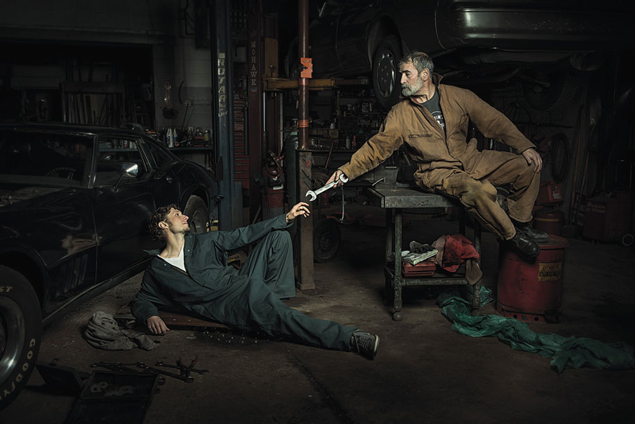 renaissance-paintings-recreated-auto-mechanics-photography-freddy-fabris-6