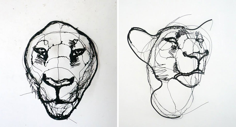 sketchbook-scribble-wire-animal-sculpture-statues-david-oliveira-portugal-1