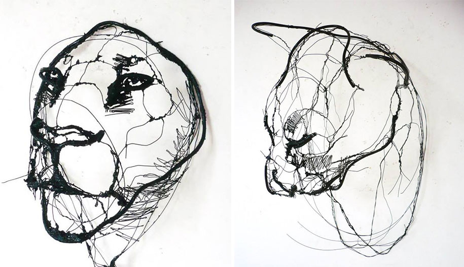 sketchbook-scribble-wire-animal-sculpture-statues-david-oliveira-portugal-2