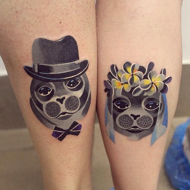 skin-art-matching-wedding-tattoos-15