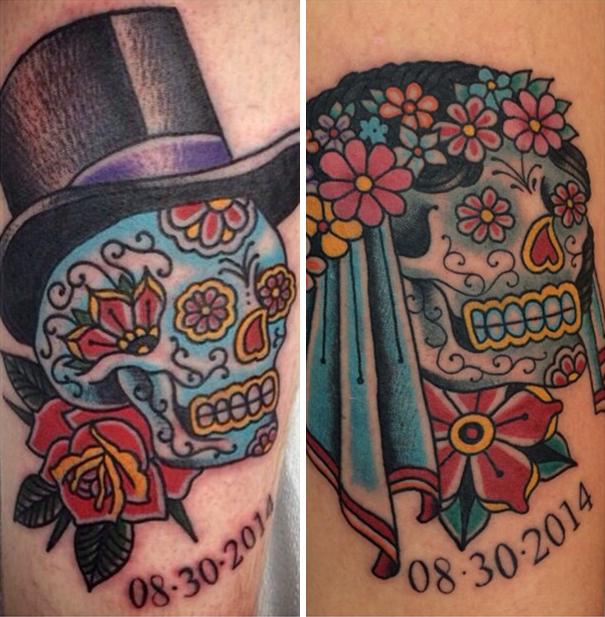 skin-art-matching-wedding-tattoos-9