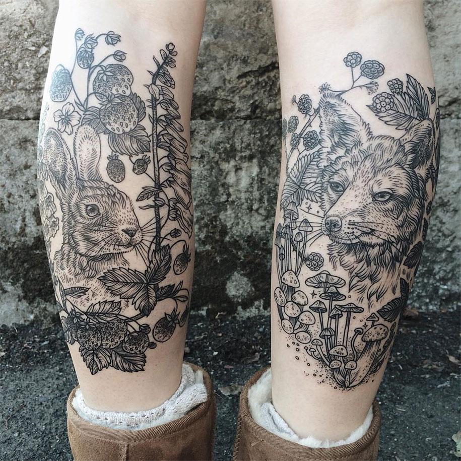 vintage-naturalistic-animal-plant-tattoos-pony-reinhardt-tenderfoot-14