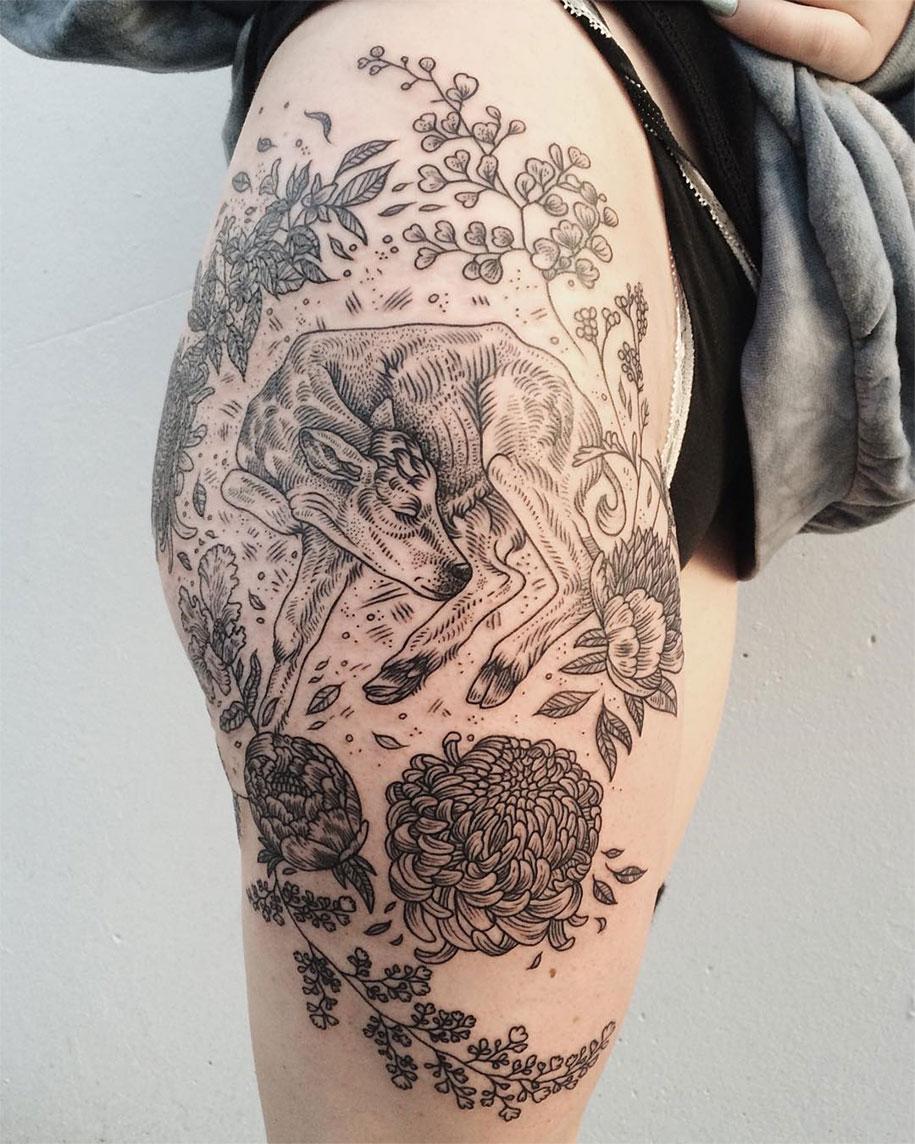 vintage-naturalistic-animal-plant-tattoos-pony-reinhardt-tenderfoot-3