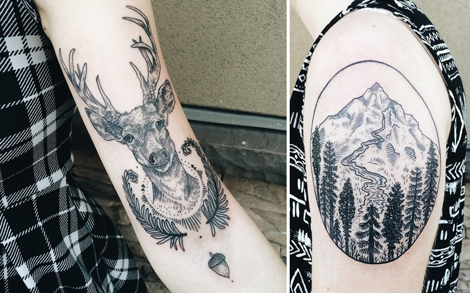 vintage-naturalistic-animal-plant-tattoos-pony-reinhardt-tenderfoot-8