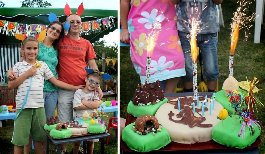 This family celebrated a gremlin birthday. Take a look at the amazing handmade cake!