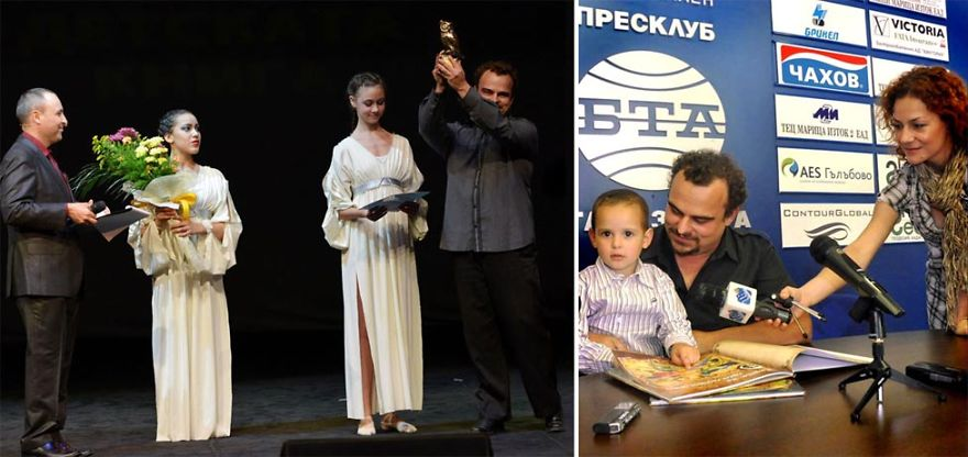 I am the youngest author to win the most prestigious award for children's literature in Bulgaria