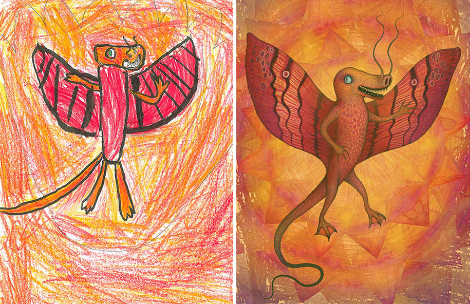 artists-redraw-children-drawings-inspiration-monster-project-12