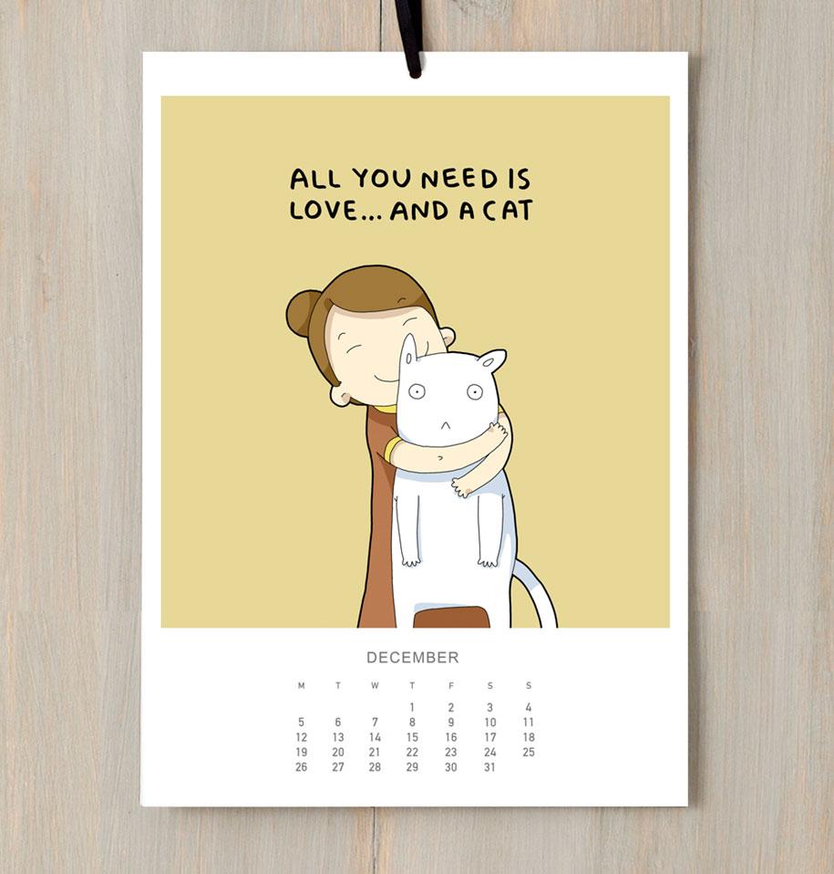 cute-illustrations-2016-cats-wall-calendar-lingvistov-1