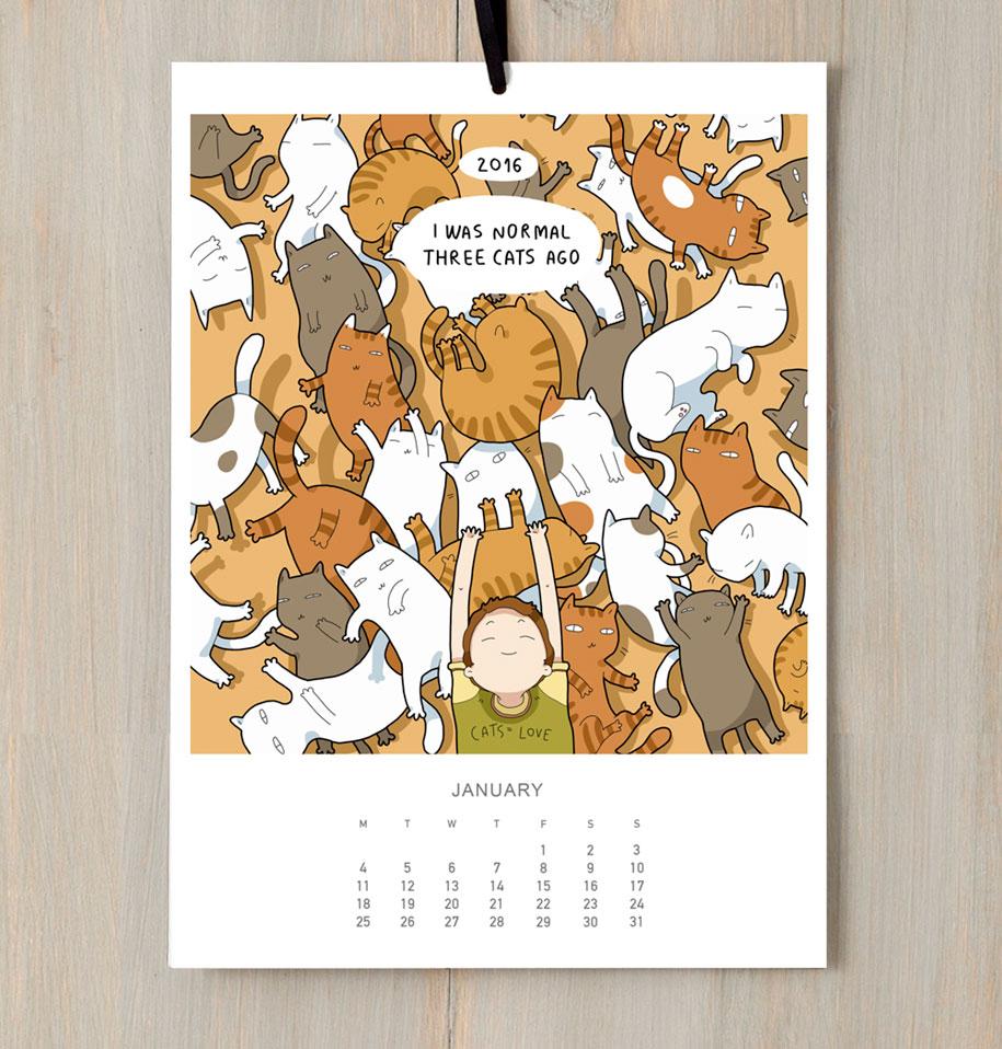 cute-illustrations-2016-cats-wall-calendar-lingvistov-12