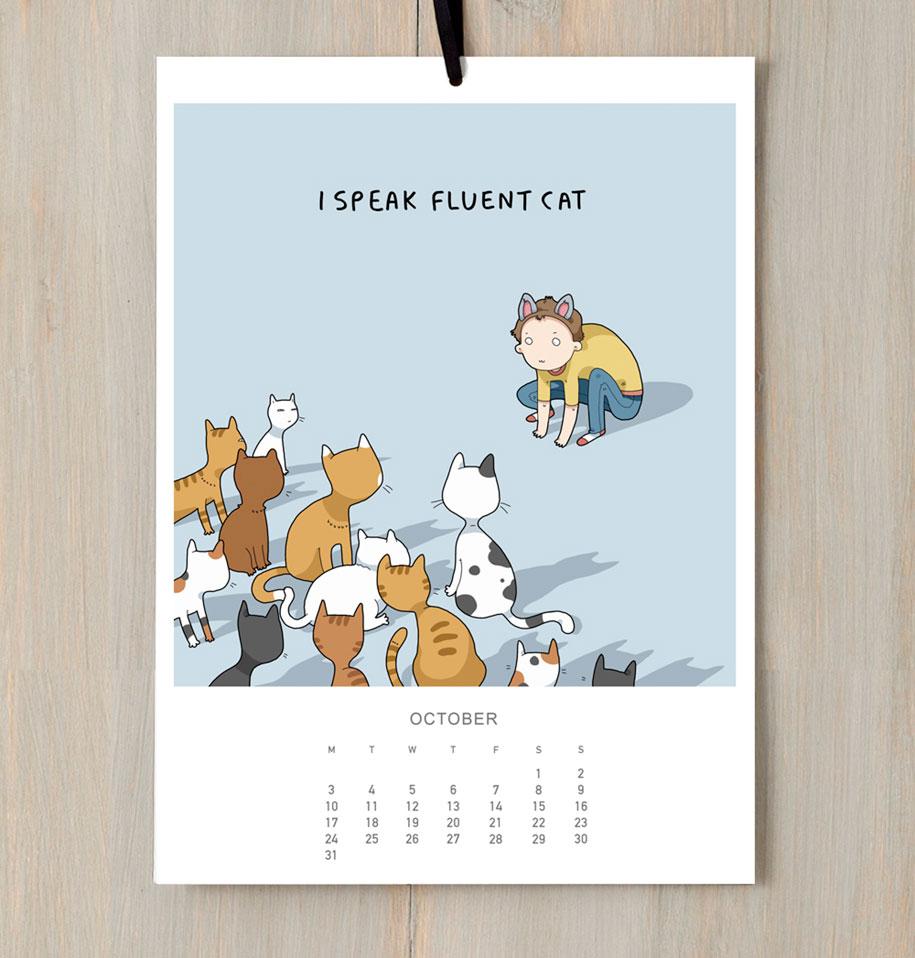 cute-illustrations-2016-cats-wall-calendar-lingvistov-3