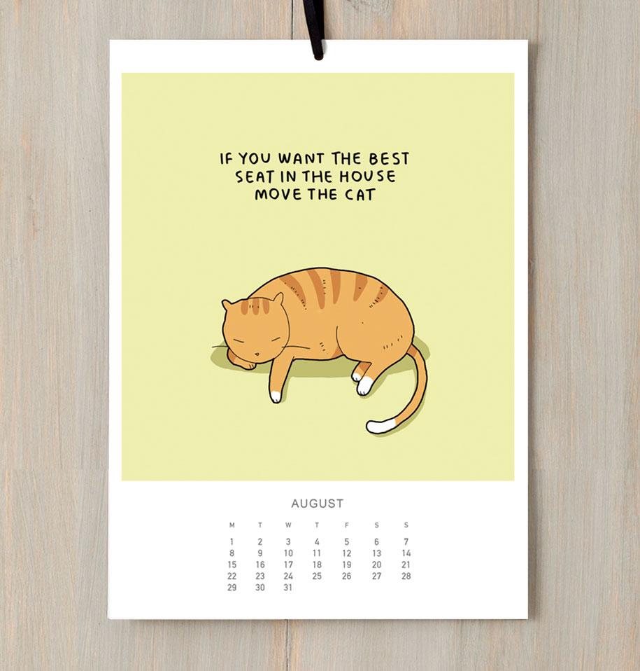 cute-illustrations-2016-cats-wall-calendar-lingvistov-5