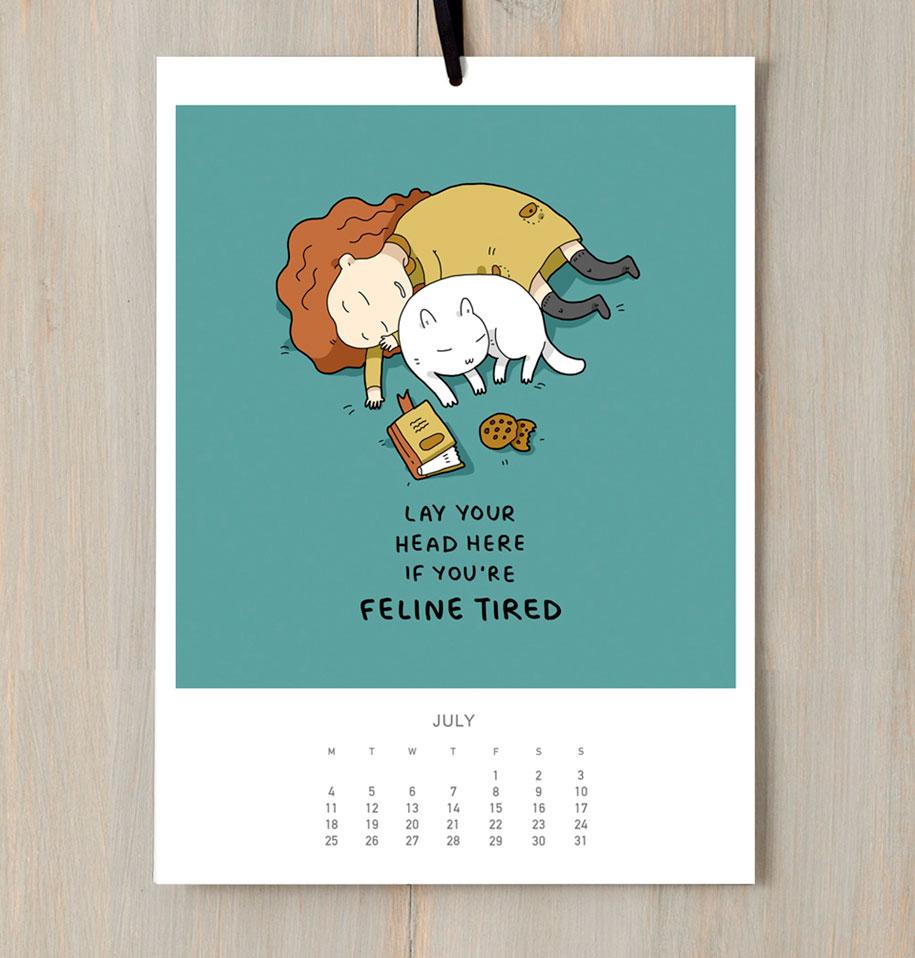 cute-illustrations-2016-cats-wall-calendar-lingvistov-6