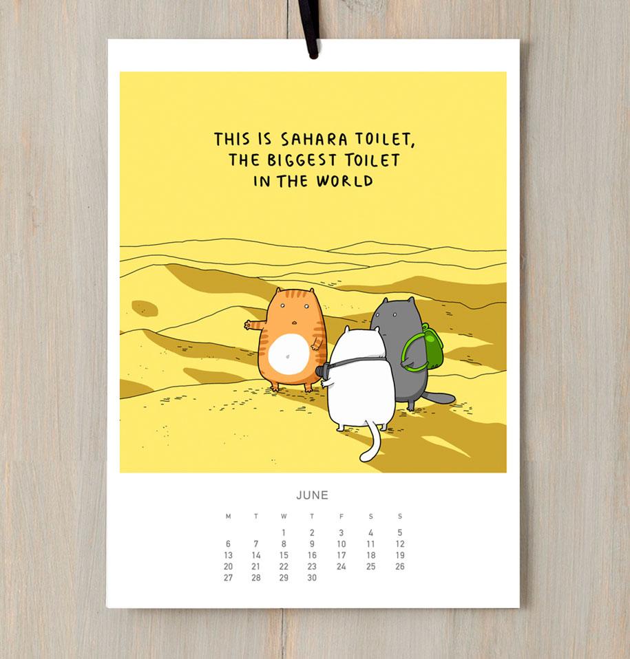 cute-illustrations-2016-cats-wall-calendar-lingvistov-7