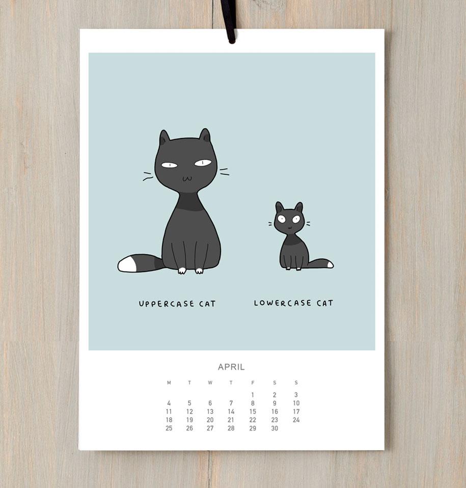 cute-illustrations-2016-cats-wall-calendar-lingvistov-9