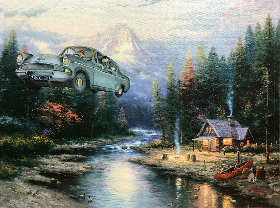 pop-culture-characters-additions-thrift-store-paintings-dave-pollot-2