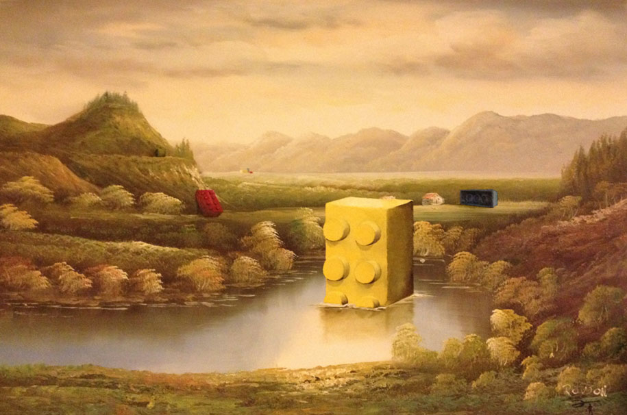 pop-culture-characters-additions-thrift-store-paintings-dave-pollot-21
