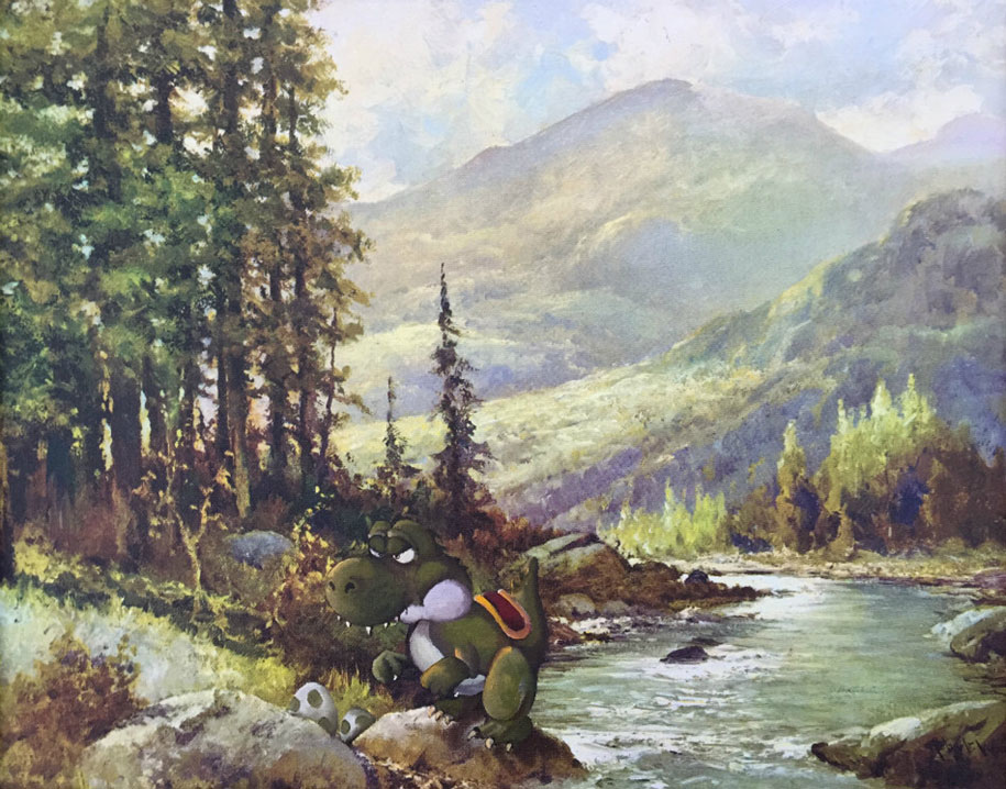 pop-culture-characters-additions-thrift-store-paintings-dave-pollot-9