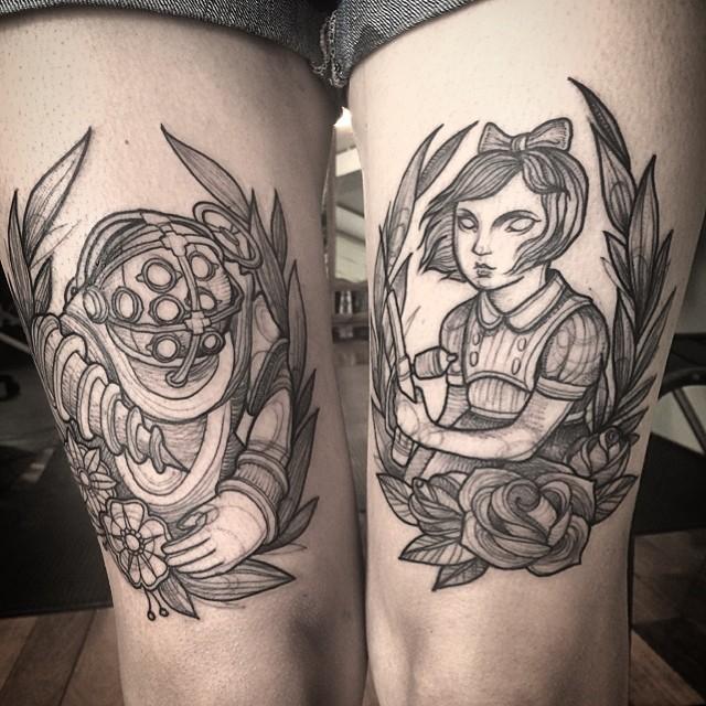 sketch-like-tattoos-nomi-chi-bioshock