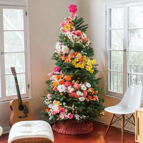 flower-floral-christmas-tree-decorations-1