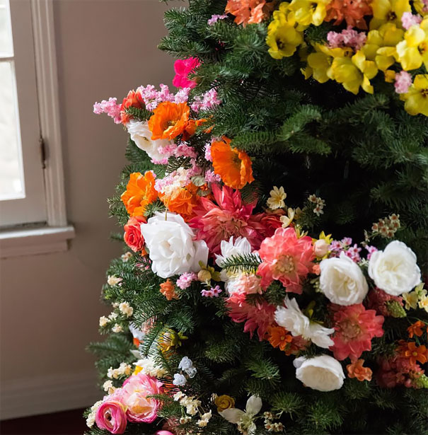 flower-floral-christmas-tree-decorations-11