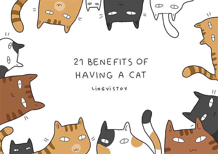 funny-illustrations-pets-benefits-of-having-a-cat-lingvistov-1