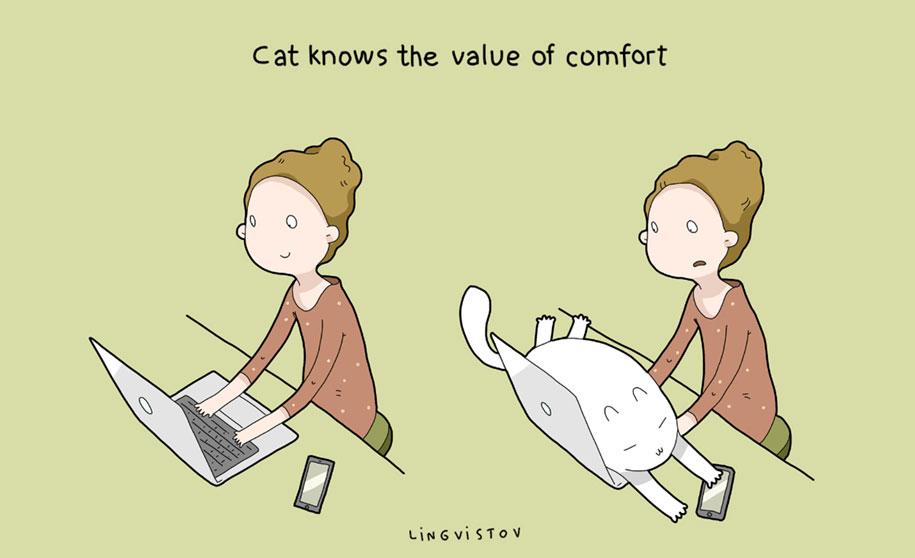 funny-illustrations-pets-benefits-of-having-a-cat-lingvistov-16
