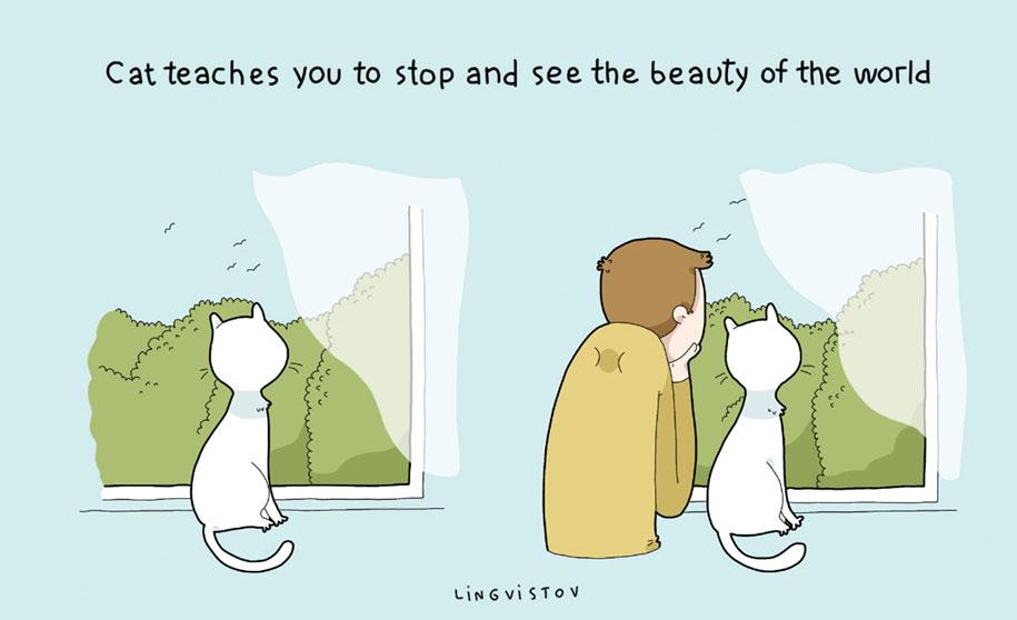 funny-illustrations-pets-benefits-of-having-a-cat-lingvistov-17