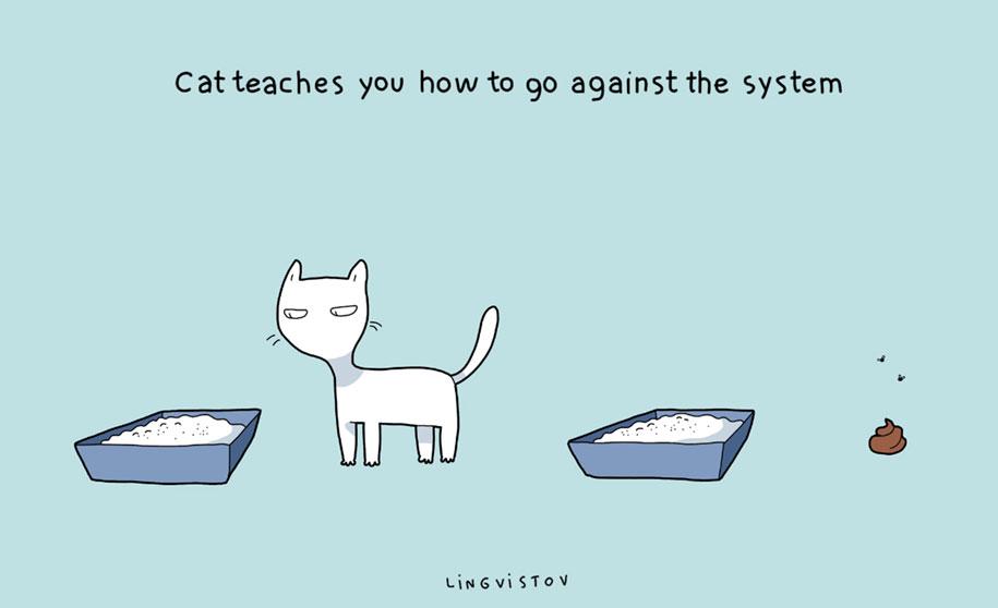 funny-illustrations-pets-benefits-of-having-a-cat-lingvistov-18