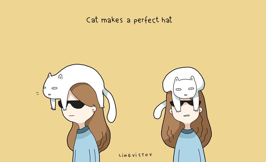 funny-illustrations-pets-benefits-of-having-a-cat-lingvistov-22