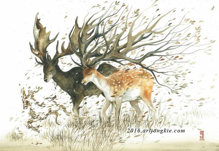 watercolor-animal-paintings-luqman-reza-mulyono-15