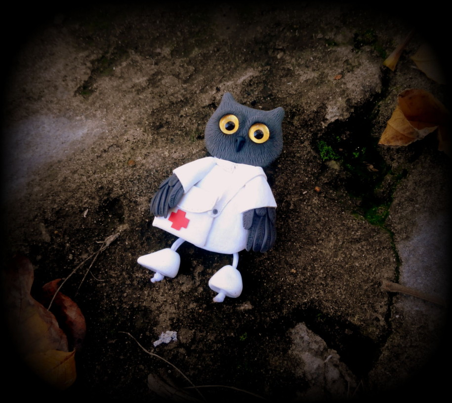 Owl. Brooch.