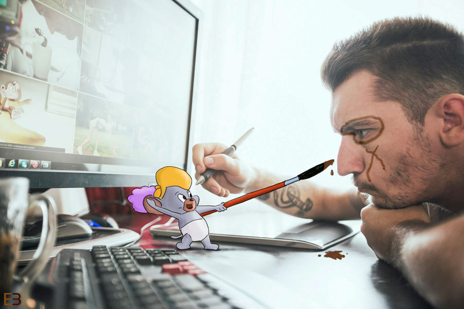 cartoons-real-life-pictures-drawing-ervin-boer-36